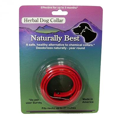 Naturally Best Herbal Large Dog Flea Collar 21-inch Click for larger image