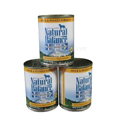 Natural Balance Duck and Potato Dog Food Can 13oz Case