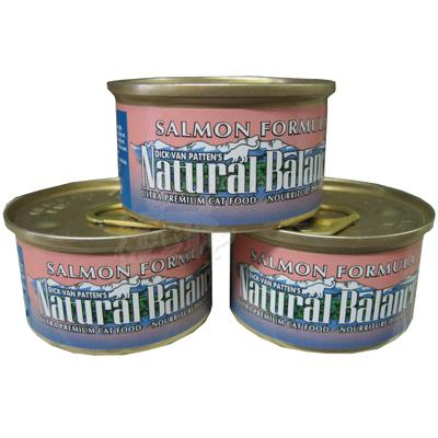 Natural Balance Salmon Canned Cat Food 3-oz. Case