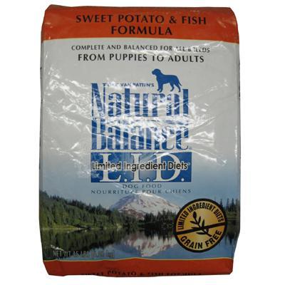 Natural Balance Fish and Sweet Potato Allergy Dog Food 15 Lb