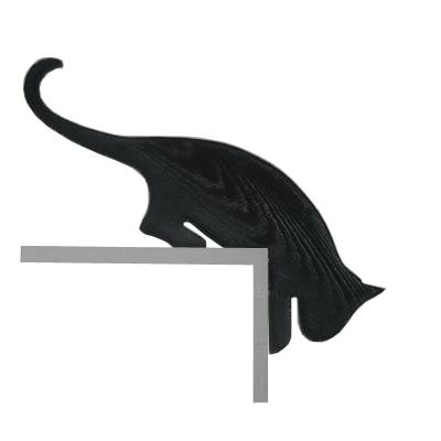 Silhouette Cat Jumping Door or Window Frame Ornament