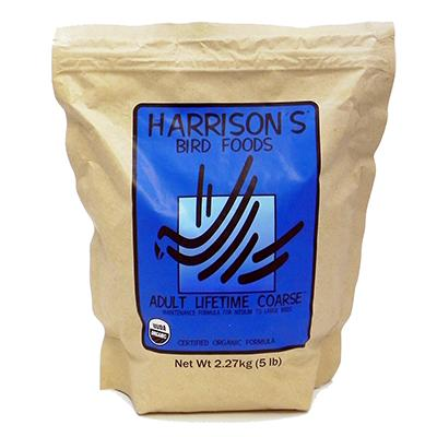 Harrison's Adult Lifetime Coarse Organic Bird Food 5-Lb. Click for larger image