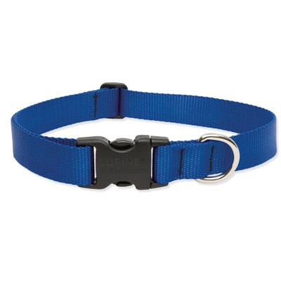 Lupine Nylon Dog Collar Adjustable Blue 12-20 inch