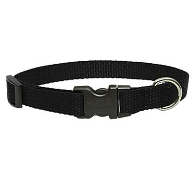 Lupine Nylon Dog Collar Adjustable Black 12-20 inch Click for larger image
