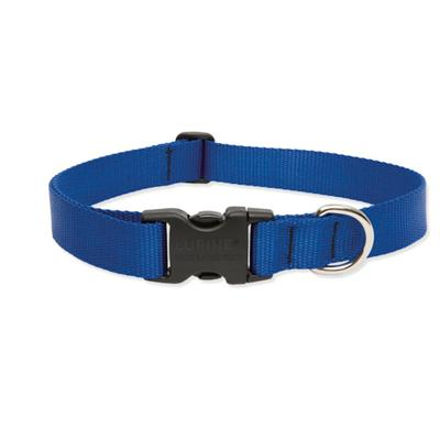 Lupine Nylon Dog Collar Adjustable Blue 16-28 inch Click for larger image