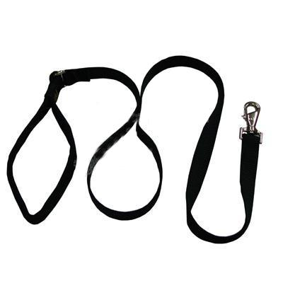 Lupine Nylon Dog Leash 4-foot x 1-inch Black Click for larger image