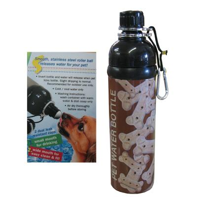 Pet Water Bottle Bones 24oz