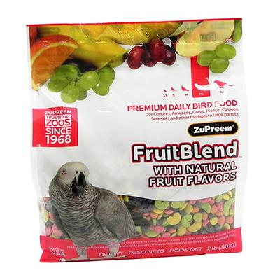 ZuPreem Fruit Blend Parrot Food 2 pound Click for larger image