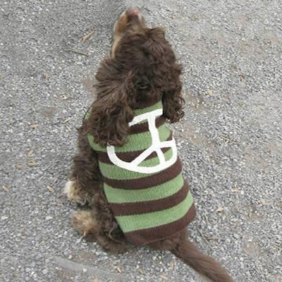 Handmade Dog Sweater Wool Peace Sign XXSmall