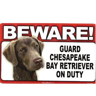 Sign Guard Chesapeake On Duty 8 x 4.75 inch Laminated