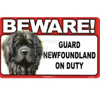 Sign Guard Newfoundland On Duty 8 x 4.75 inch Laminated