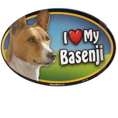Dog Breed Image Magnet Oval Basenji