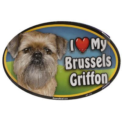 Dog Breed Image Magnet Oval Brussels Griffon