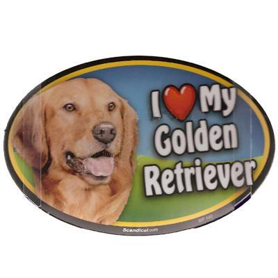 Dog Breed Image Magnet Oval Golden Retriever