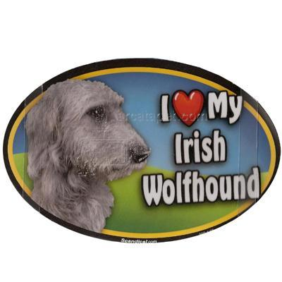 Dog Breed Image Magnet Oval Irish Wolfhound