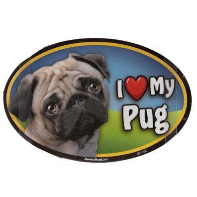 Dog Breed Image Magnet Oval Pug