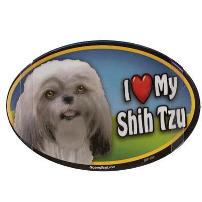 Dog Breed Image Magnet Oval Shih Tzu