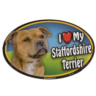 Dog Breed Image Magnet Oval Staffordshire Terrier