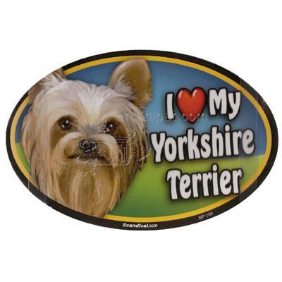Dog Breed Image Magnet Oval Yorkshire Terrier