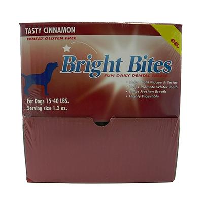Bright Bites Cinnamon Medium Case Dog Dental Treat