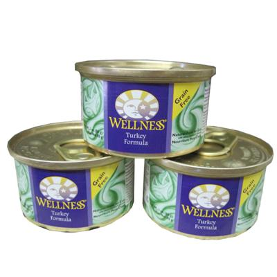 Wellness Turkey Canned Cat Food 3-oz. Case