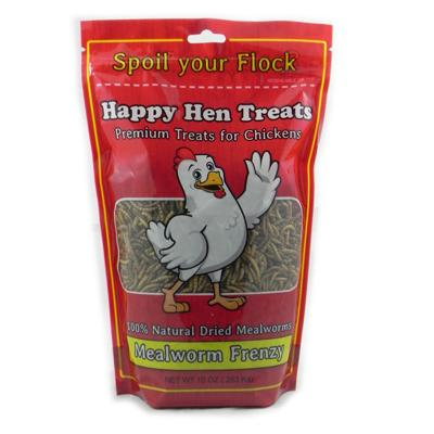 Happy Hen Mealworm Frenzy 10 ounce Chicken Treats