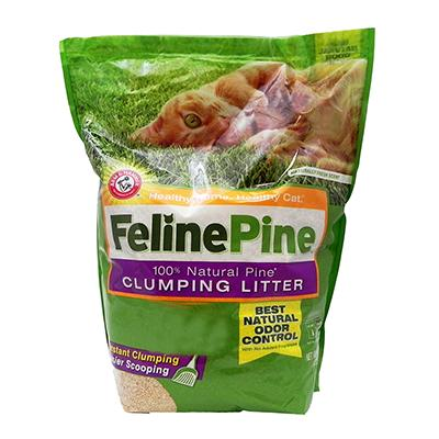 Feline Pine Scoop Clumping Pine Cat Litter 14 Lb