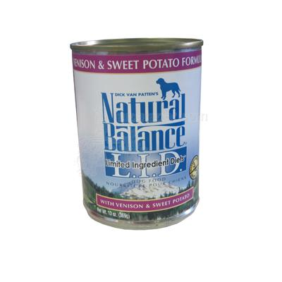 Natural Balance Venison Sweet Potato Canned Dog Food ea