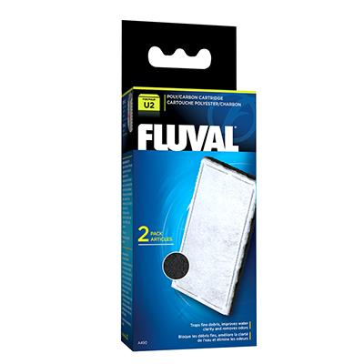 Fluval U2 Fliter Stage 2 Poly/Carbon Cartridge 2 pack