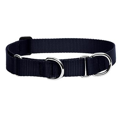 Lupine Martingale Dog Collar Black 19-27 inches Click for larger image