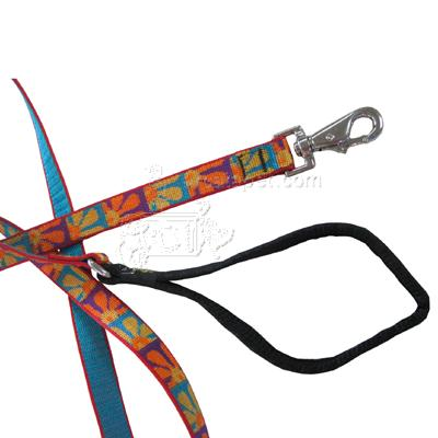 Lupine Nylon Dog Leash 4-foot x 3/4-inch Crazy Daisy Click for larger image