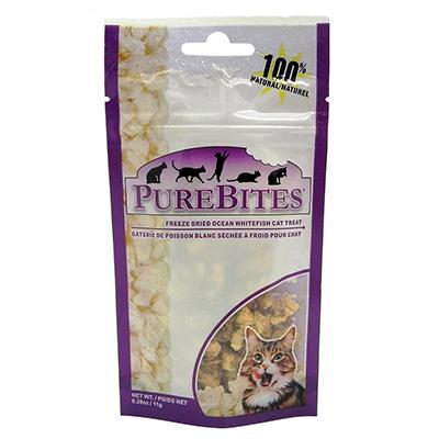 PureBites Freeze Dried Ocean Whitefish Cat Treat .39-oz Click for larger image