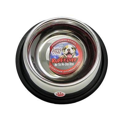Steel Dog Bowl Non Skid 24 ounce