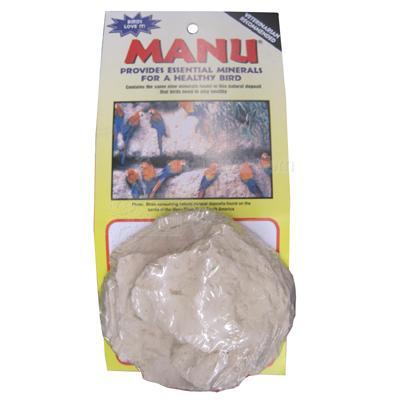 Manu Natural Mineral Block for all Pet Birds w/bolt 3.5-oz Click for larger image
