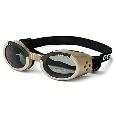 Doggles Eyeware for Dogs Chrome Frame / Smoke Lens XSmall Click for larger image
