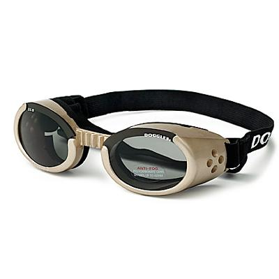 Doggles Eyeware for Dogs Chrome Frame / Smoke Lens Xlarge