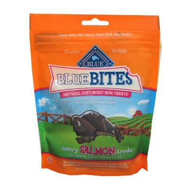 Blue Bites Salmon Natural Soft Moist Treats for Dogs 6-oz