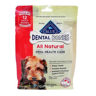 Blue Bones Regular Natural Dental Treat for Dogs 12-oz Click for larger image