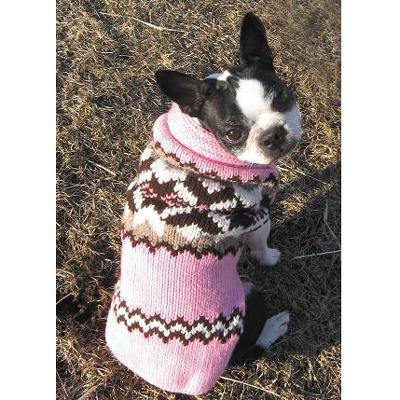Handmade Dog Sweater Wool Aspen Pink XXSmall