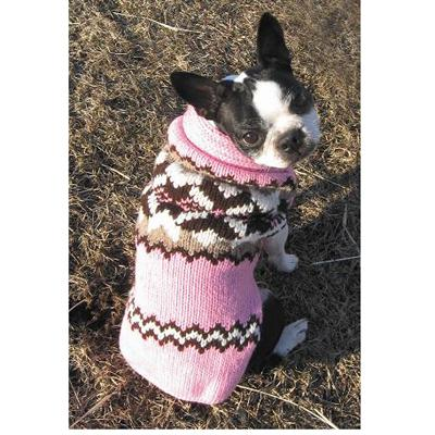 Handmade Dog Sweater Wool Aspen Pink XSmall