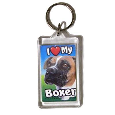 Plastic Keyring Boxer Click for larger image