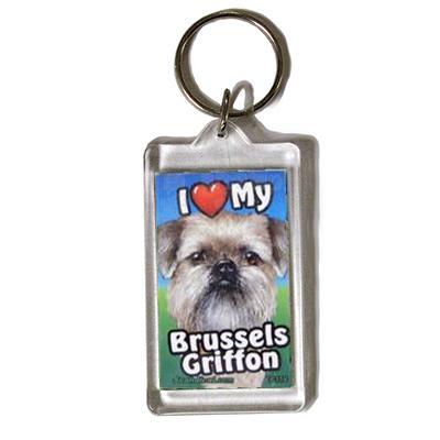 Plastic Keyring Brussels Griffon