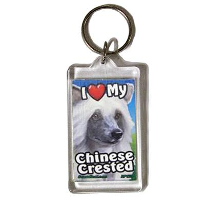 Plastic Keyring Chinese Crested Click for larger image