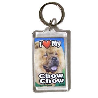 Plastic Keyring Chow Chow