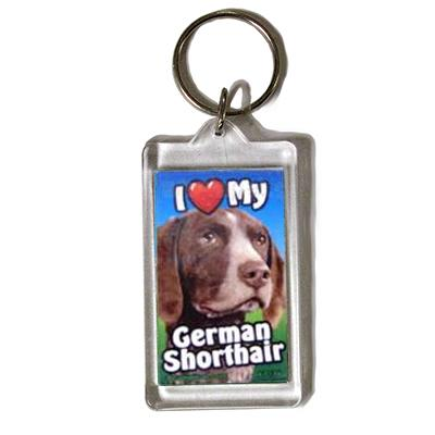 Plastic Keyring German Shorthair