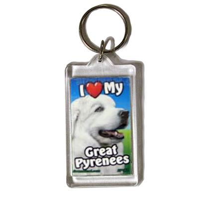 Plastic Keyring Great Pyrenees