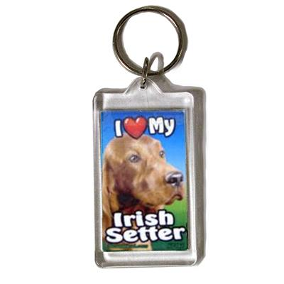 Plastic Keyring Irish Setter