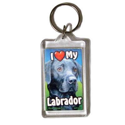 Plastic Keyring Black Labrador