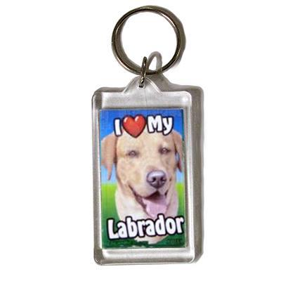 Plastic Keyring Yellow Labrador