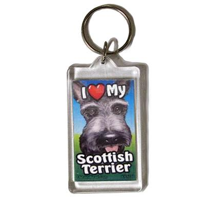 Plastic Keyring Scottish Terrier
